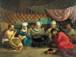 Казахская серия Туркестан  живопись,  скульптура, книги, нац. украшения